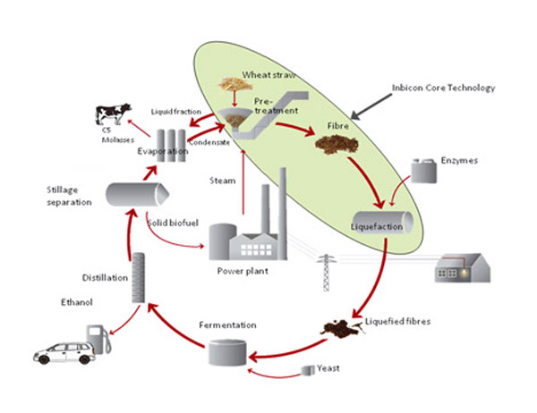 Inbicon Cellulosic Ethanol Process