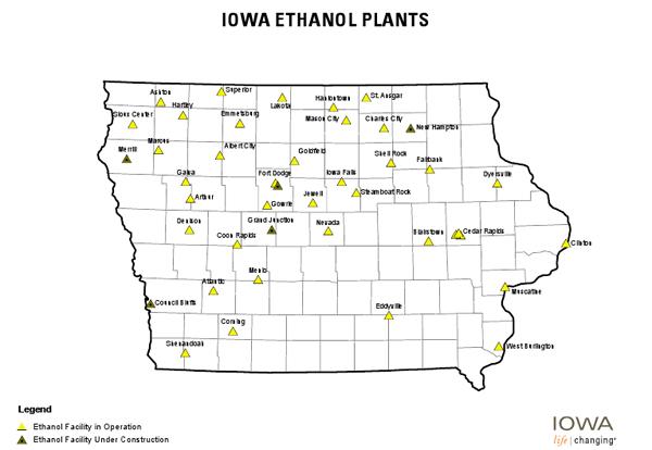 Iowa Ethanol Plants