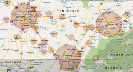 Tennessee EV Map