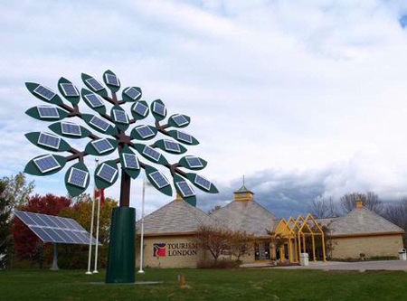 Weird Solar Tree Sprouts In Canada Earthtechling