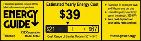 EnergyGuide TV