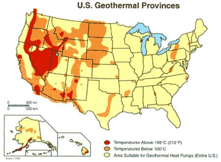 U.S. Geothermal Map