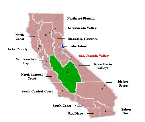 San Joaquin Valley Map