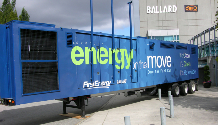 FirstEnergy Ballard utility-scale hydrogen-powered fuel cell