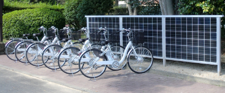 Kyocera Solar Cycle Station, charging for electric bicycles