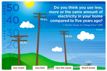 Energy use survey graph, Shelton Group