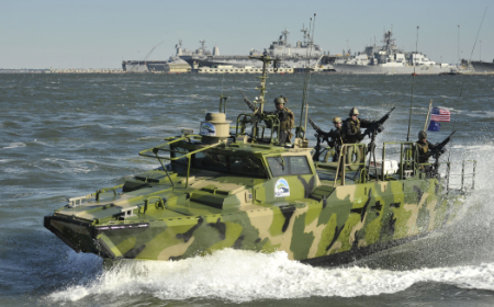 Navy Riverine Command boat, alternative fuels