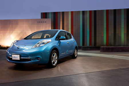 Nissan Leaf battery electric vehicle