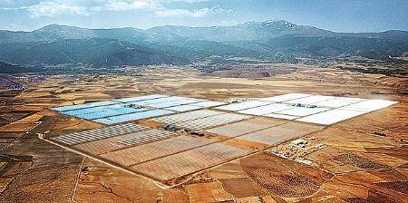 Solar Millennium parabolic trough power plant