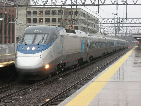 Amtrak Acelo Express at New Haven Union