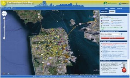 SF Solar map