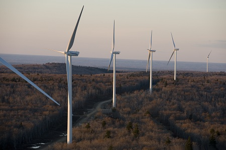 Wind power plant, Kent Hills, New Brunswick, TransAlta