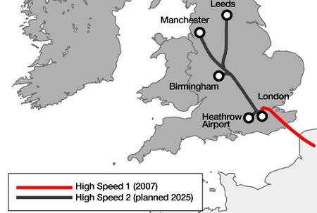 United Kingdom, High Speed Two, rail line, London to Birmingham
