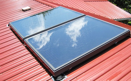 solar thermal water heating system, VELUX