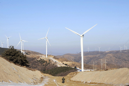 Tazigou wind power station, Fuxin, Liaoning province, China
