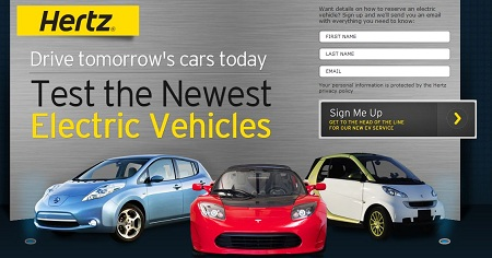 Hertz EV, electric vehicle rental, car share