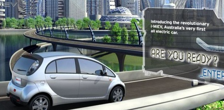 Mitsubishi i-MiEV electric vehicles, fast charging, Australia