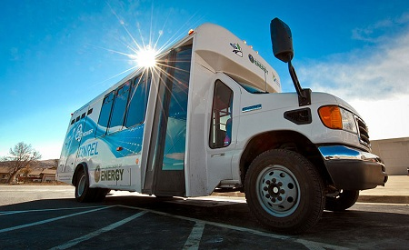 Hydrogen powered tour bus, NREL