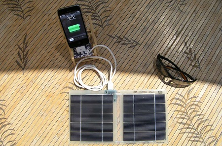 Portable solar charger, SunTactics, PC5