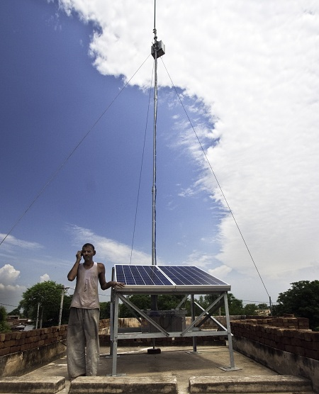 Solar powered telecommunications base station, VNL WorldGSM