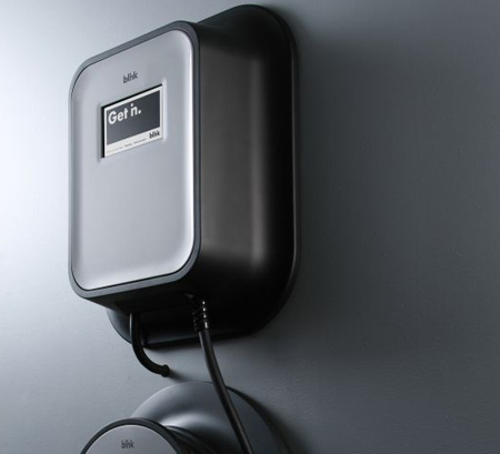 Blink home EV charging station, Ecotality