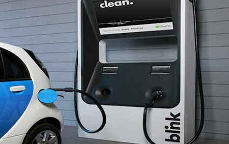 Electric vehicle fast charger, ECOtality, Blink