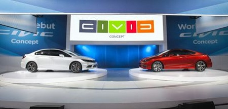 Honda Civic concepts, Detroit auto show