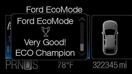 Ford EcoMode, fuel-efficiency improvement software application