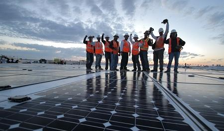 roof-integrated PowerPly photovoltaic module, Lumeta, Phoenix