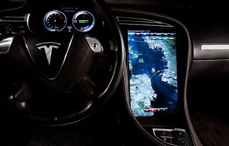 Tesla Model S console, NVIDIA