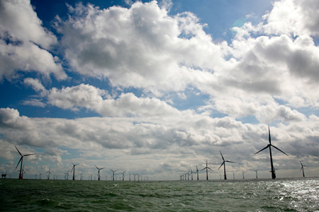 North Seas wind power plant, European supergrid