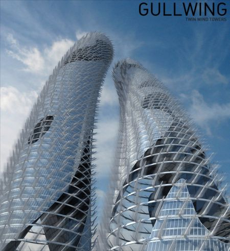 Gullwing Twin Wind Towers