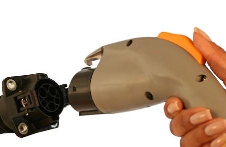 SAE J1772 plug and receptacle