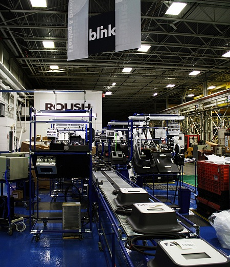 Blink Level 2 Charging Station manufacturing, Roush, Livonia, Michigan