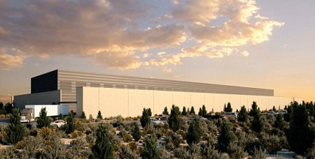 Facebook data center drawing, Prineville, Oregon