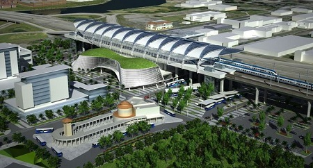 Florida high-speed rail station, artists rendering