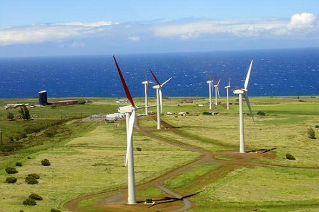 Hawi wind power plant, Hawaii, Big Island