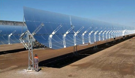 parabolic trough, concentrating solar power (CSP)