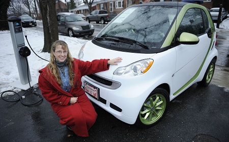 Smart Fortwo electric drive, first customer, Mindy Kimball
