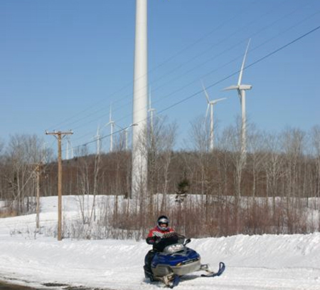 Snowmobile Wind Turbine