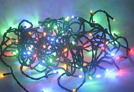 LED Christmas lights, potential hazard