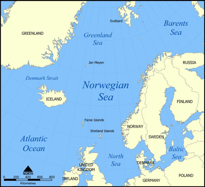 Norwegian Sea Map