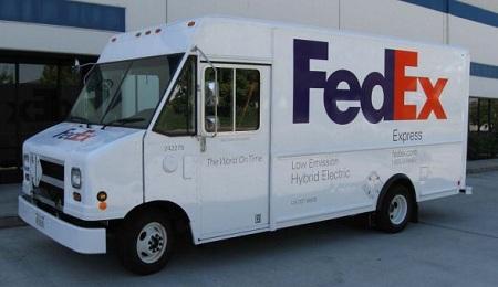 gas-electric hybrid delivery trucks vs. diesel only, FedEx, NREL