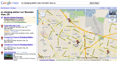 Google Maps EV Charging