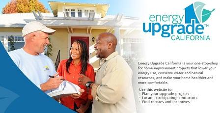 California home energy efficiency upgrade program, Energy Upgrade California