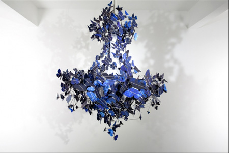 Blue Virtue solar powered chandelier