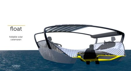 Float Foldable Solar Catamarran