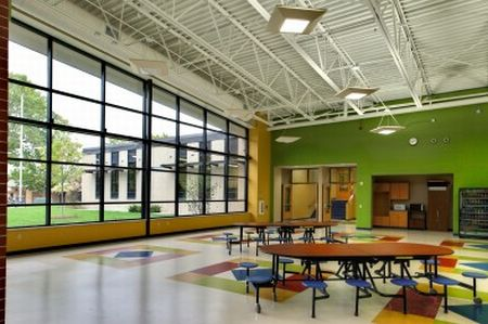 Lake Mills Middle School cafeteria