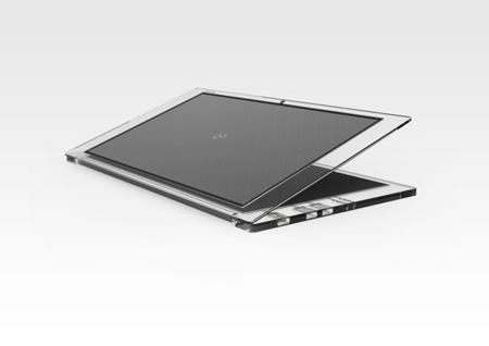 Luce solar powered laptop