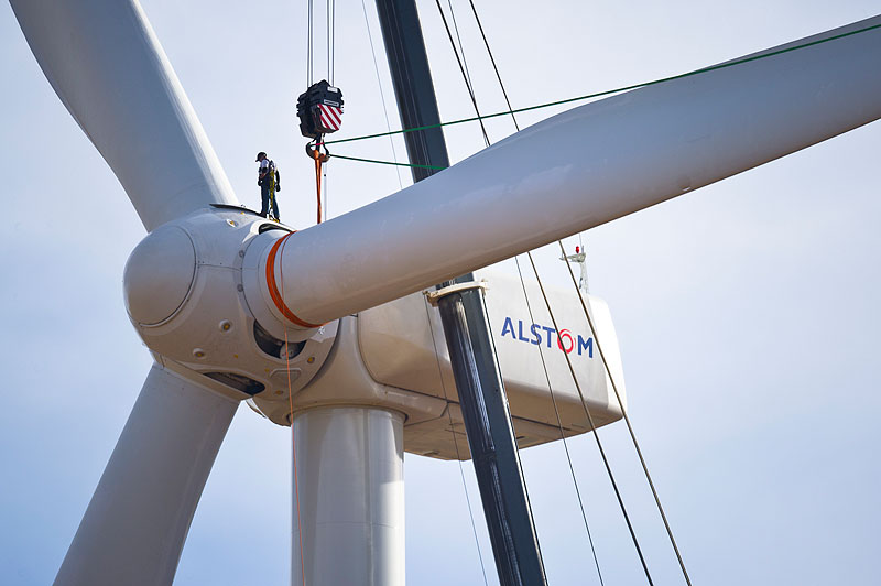 Worker On Wind Turbine